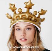 金的國王充氣帽-大