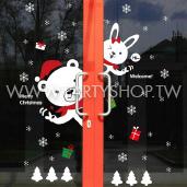 耶誕可愛熊-布置貼[T8]