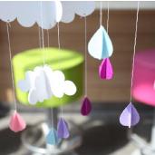 粉紫-雲朵雨滴吊飾/3入[T8]