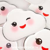 造型雲朵笑臉紙盤/8入[T8]