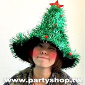 拉絲耶誕樹帽