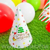 雪白耶誕樹-三角紙帽[T8]