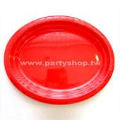 橢圓盤-紅/3入