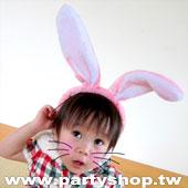 毛毛兔耳髮圈
