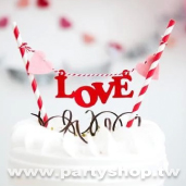LOVE 蛋糕插旗串[T10]