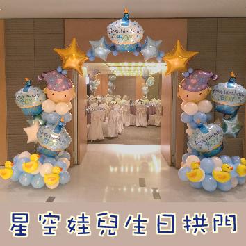 星空娃兒生日拱門[售價6500]