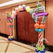 生日造型球柱